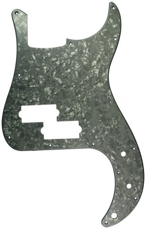 Solo Pro P Bass 3-Ply Pickguard, 13 Holes, White Pearl