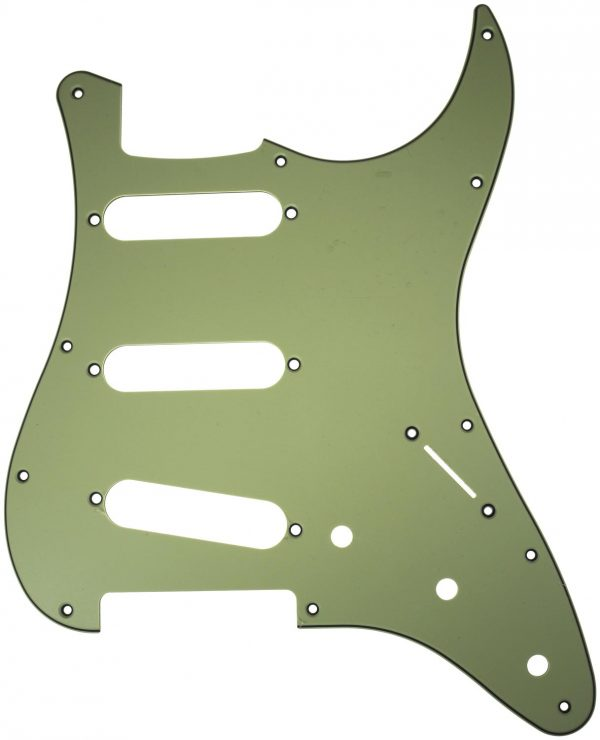 Solo Pro Strat Style 3-Ply Pickguard, 11 Holes, Mint Green