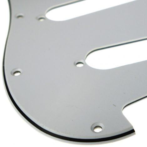 Solo Pro Strat Style 3-Ply Pickguard, 11 Holes, White