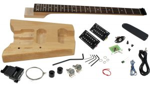Solo SB Style DIY Headless Guitar Kit, Basswood Body, Set Neck