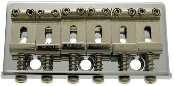 Solo Pro Strat Vintage Style Bridge, Non Tremolo, w/Screws, Chrome