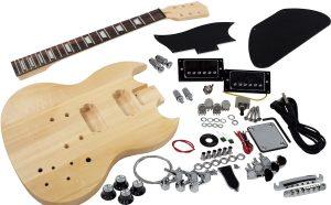 Solo SG Style DIY Guitar Kit, Basswood Body, Maple neck RW FB