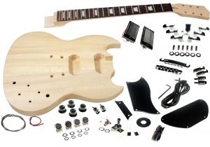 Solo SG Style DIY Guitar Kit, Basswood Body, Set Neck