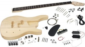 Solo SR Style DIY Bass Guitar Kit, Basswood Body, PJ Pickups