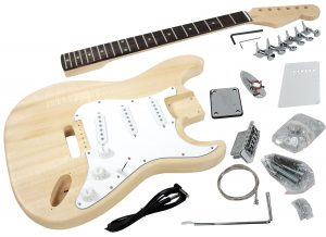 Solo ST Style DIY Guitar Kit, Basswood Body, Hard Maple Neck