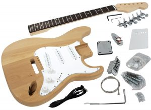 Solo ST Style DIY Guitar Kit, Ash Body, Rosewood FB