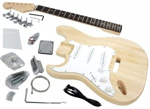 Solo ST Style Guitar Kit, Basswood Body, Left Handed
