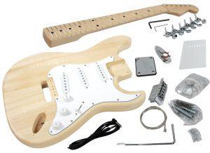 Solo ST Style DIY Guitar Kit, Basswood Body, Hard Maple Fingerboard