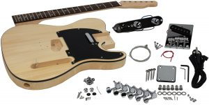 Solo Tele Style DIY Guitar Kit, Basswood Body