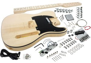 Solo Tele Style DIY Guitar Kit, 12 String, Basswood Body, Maple Neck RW FB