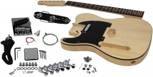 Solo Tele Style DIY Guitar Kit, Basswood Body, Left Handed