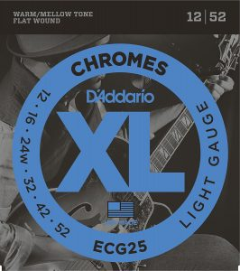 DAddario ECG25 Chromes Flat Wound Electric Guitar