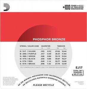 DAddario EJ17 Phosphor Bronze Acoustic Gitar