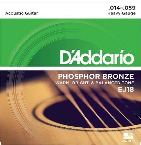 DAddario EJ18 Phosphor Bronze Acoustic Guitar