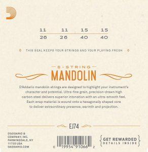 DAddario EJ74 Phosphor Bronze Mandolin