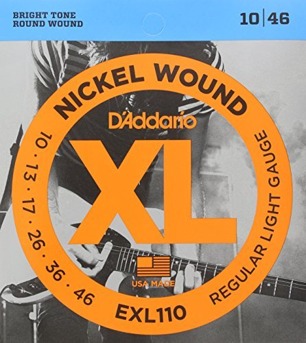 d 39 addario exl110 nickel wound electric guitar strings regular light 10 46 solo music gear. Black Bedroom Furniture Sets. Home Design Ideas