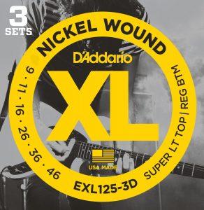 DAddario EXL125 3D Nickel Wound Electric Guitar