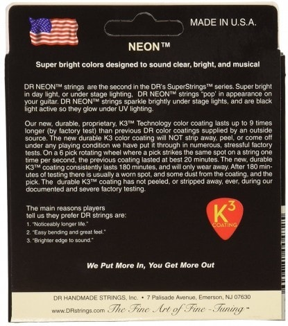 DR Strings NWE-9 DR Neon Electric Guitar Strings