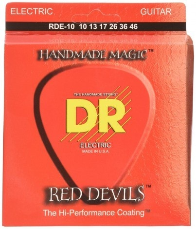 DR Strings RDE-10 Red Devils-Extra-Life Red Coated Electric