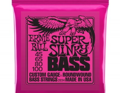 Ernie Ball Super Slinky Nickel Round Wound Bass Set 2834 (45-100)